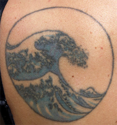 great wave tattoo